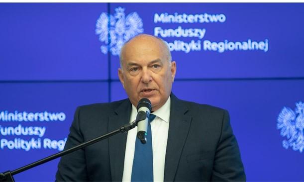 Fot. Otwarcie konferencji oraz powitanie zaproszonych Gości przez Tadeusza Kościńskiego ministra finansów, funduszy i polityki regionalnej.