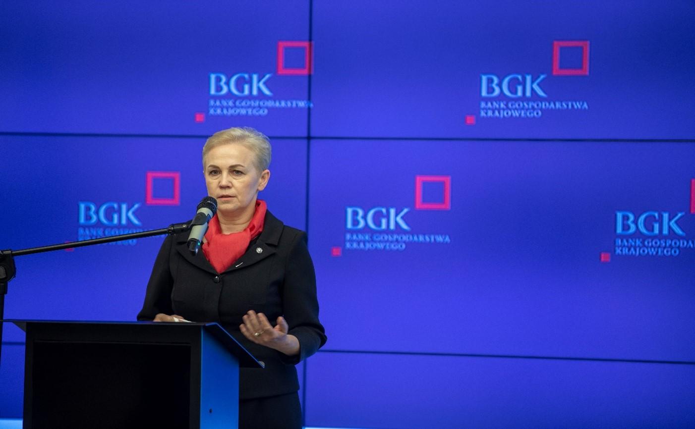 Fot. Beata Daszyńska-Muzyczka, prezes Banku Gospodarstwa Krajowego